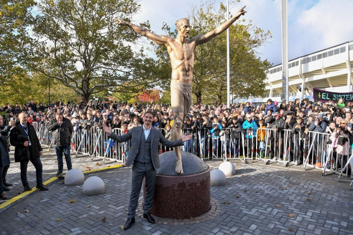 Zlatan Ibrahimovic Immortalised With Statue in Sweden soccer football la galaxy manchester united Malmo