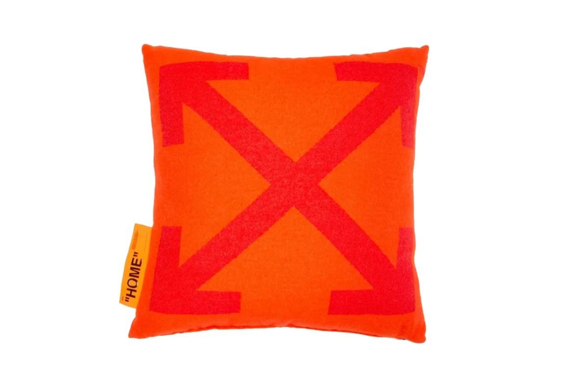 introduces orange arrows pillow