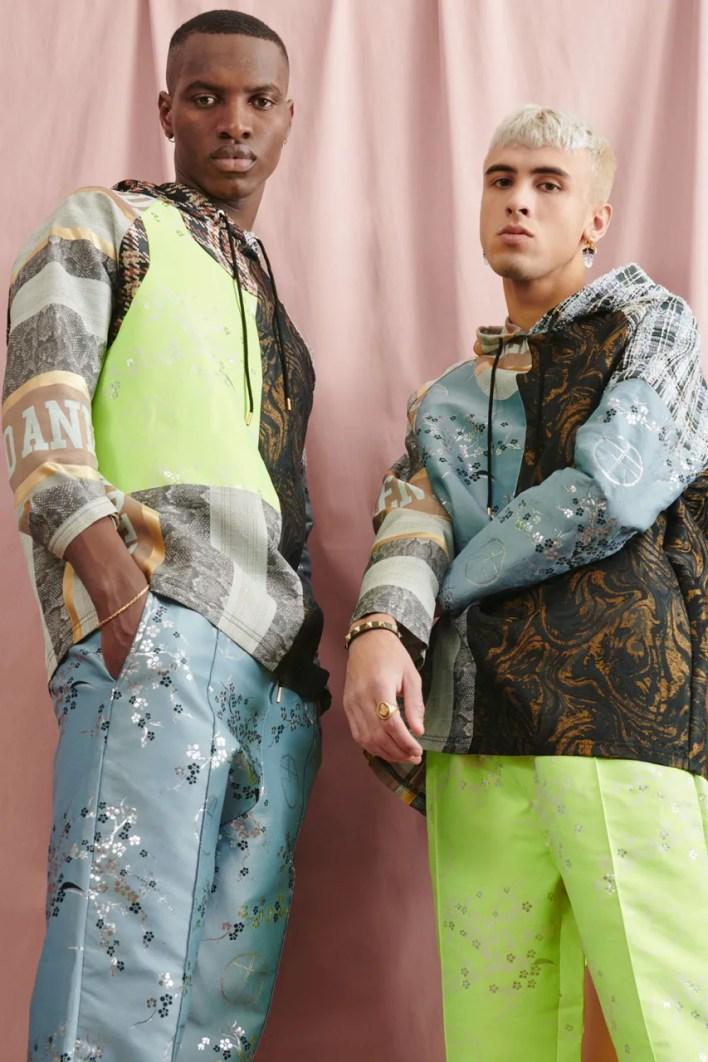 Astrid Andersen Deadstock Fabric Collection Lookbook Lockdown Sustainability Danish Eponymous Luxury Label London Fashion Week Newgen Mens Womens T-Shirts Outerwear Materials Surplus