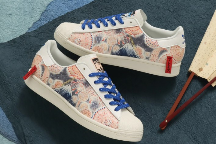 atmos adidas originals superstar mt fuji collaboration cream white red blue gx7791 official release date info photos price store list buying guide