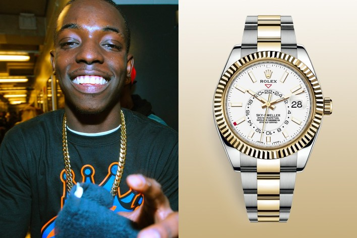 Bobby Shmurda Rolex Sky Dweller Wrist Check hypebeast watches style rap new york Rowdy Rebel diamonds jewellery jewelry accessories swiss made Rolex
