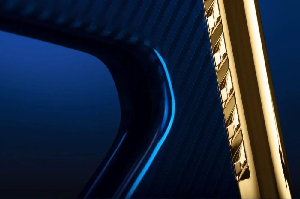 extans design studio blue carbon fiber bicycle 24 karat gold trim official release date info photos price store list buying guide