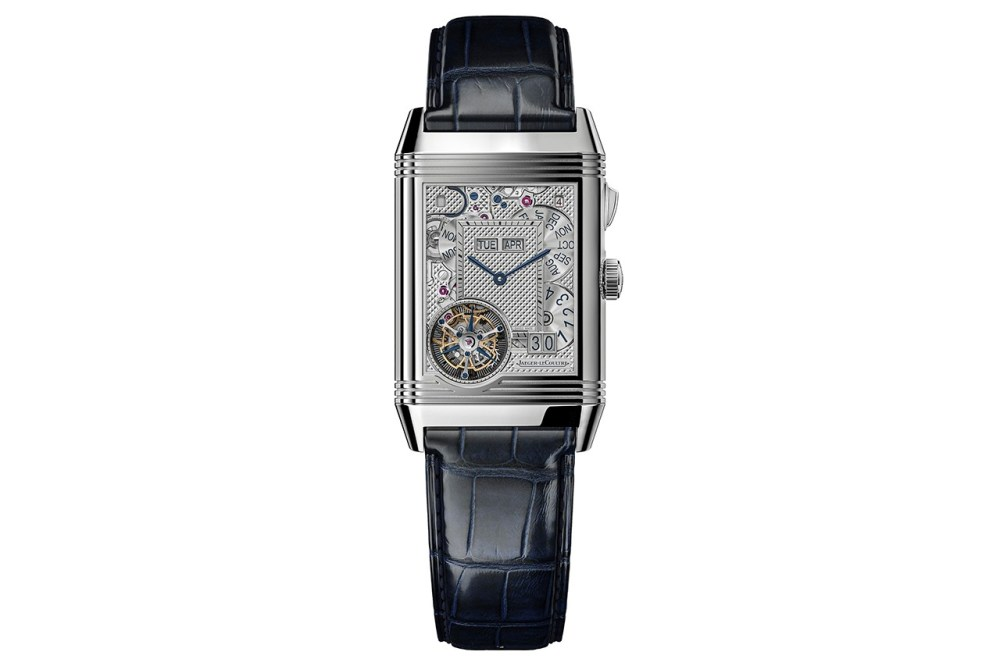 Jaeger-LeCoultre Reverso Hybris Mechanica Calibre 185 watch design white gold sapphire swiss horology