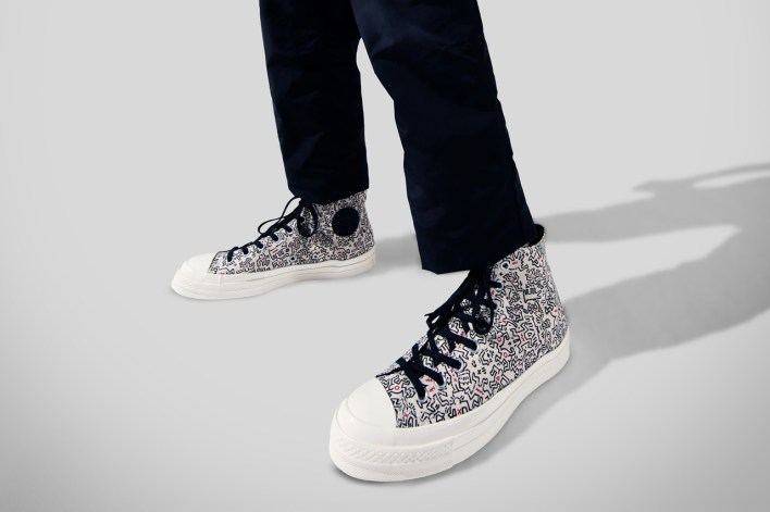 Keith Haring x Converse Collaboration Collection Chuck Taylor All Star 70 Pro Leather Run Star Hike Release Information Foundation AIDS Charity New York City Subway Side Walk Artwork Pop Art Graffiti Design Collab Drop Date
