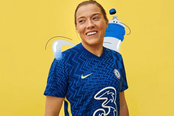 chelsea london fc premier league 2021/22 home jersey kit nike op art blue release information details