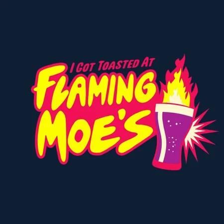 Flaming Moe's T-Shirt - The T-Shirt Vault