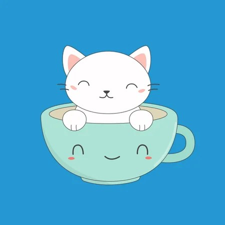 Lovely Coffee And Kawaii Cat NeatoShop