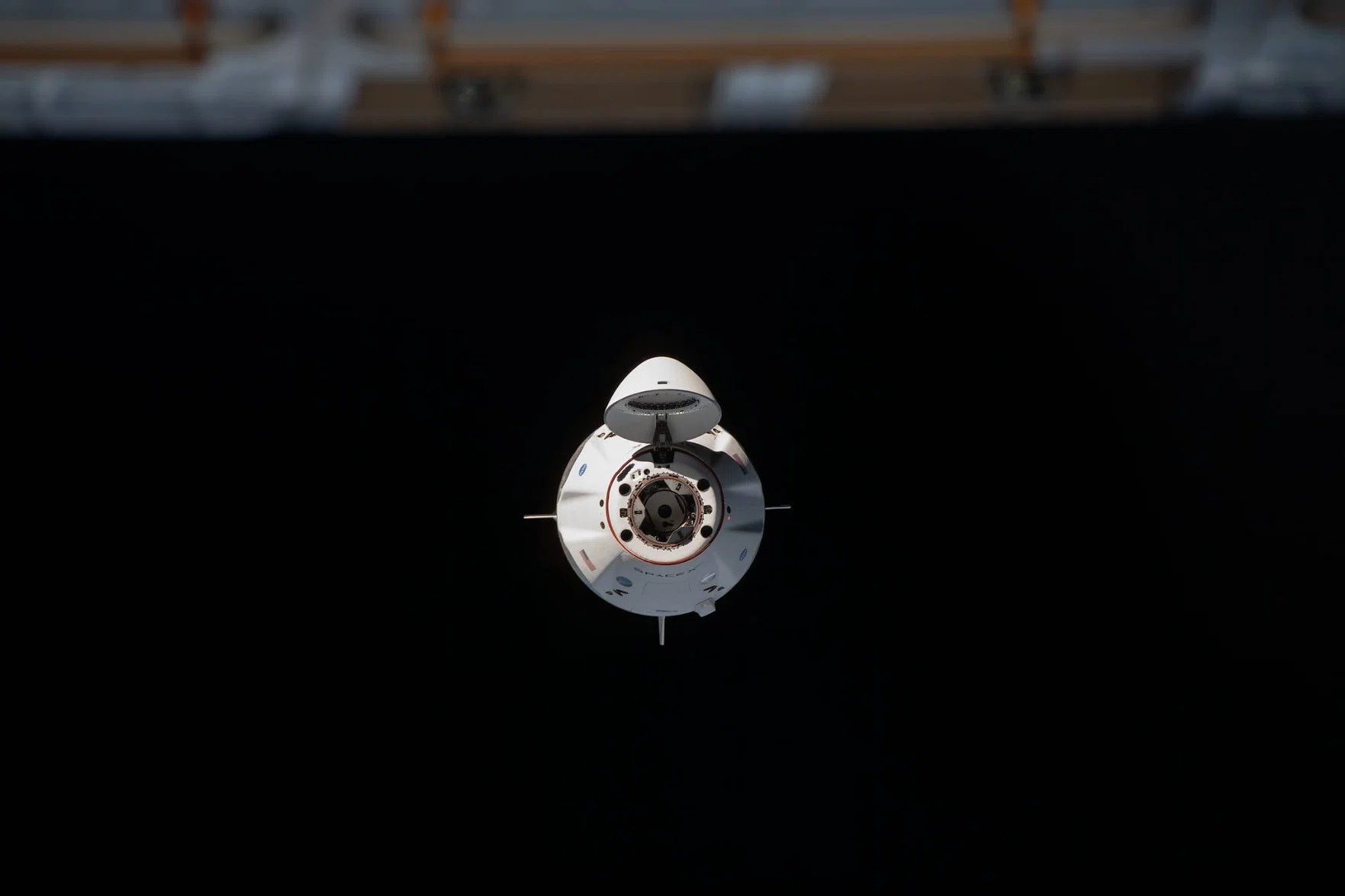 H / O: NASA SpaceX Crew Dragon Resilience ISS 210201 EC
