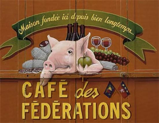café des fédérations bouchon lyon