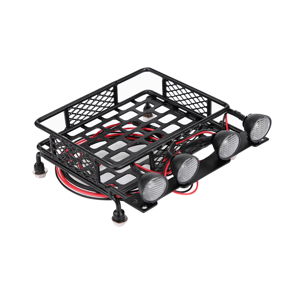 rc modellbau teile zubehor small middle large roof rack luggage 4pcs led light for axial scx10 1 10 rc car sonstige
