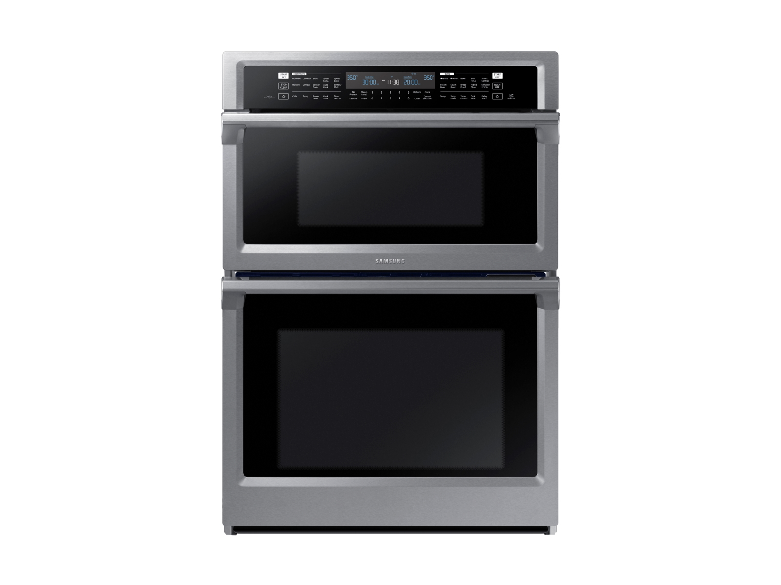 30 smart microwave combination wall oven with steam cook in stainless steel