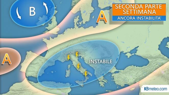 Ancora instabilità nei prossimi giorni