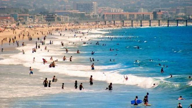 Hot heat in California. COVID19, gatherings on beaches are feared.