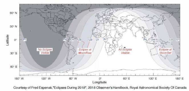 Dove sarà visibili l'eclissi più lunga del secolo