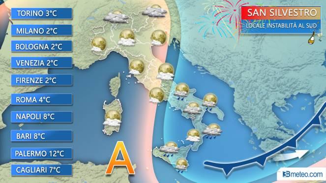 Meteo Italia - Notte di San Silvestro