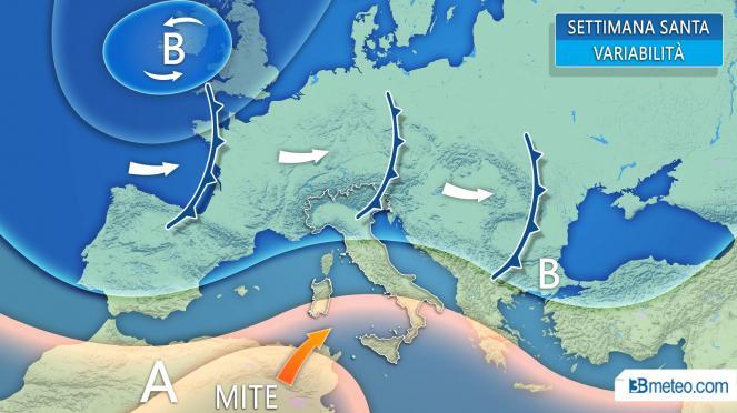 Settimana Santa: evoluzione meteo in Europa