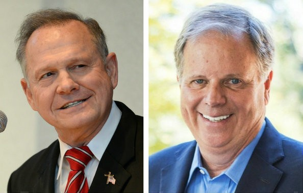 Roy Moore, left, and Doug Jones. (AL.com file photos)