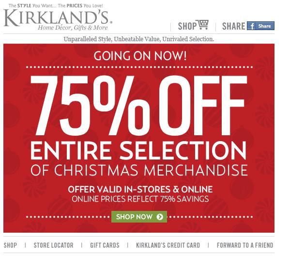 Kirkland's 75% off all Christmas decor | AL.com on Kirkland's Decor Home Accents id=16219