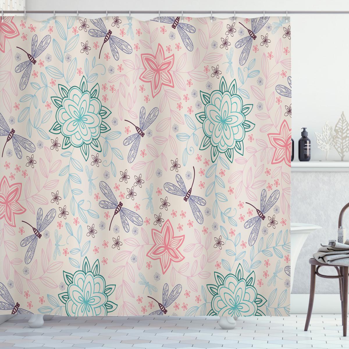 bohem dragonfly shower curtain