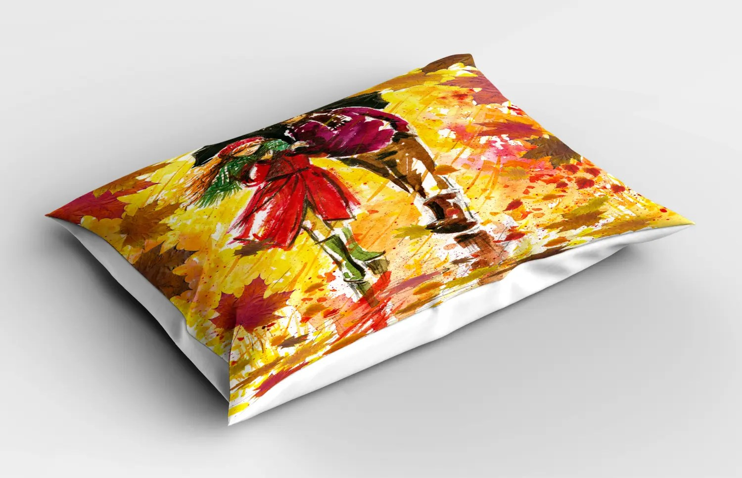 Fall Pillow Sham Decorative Pillowcase 3 Sizes Bedroom