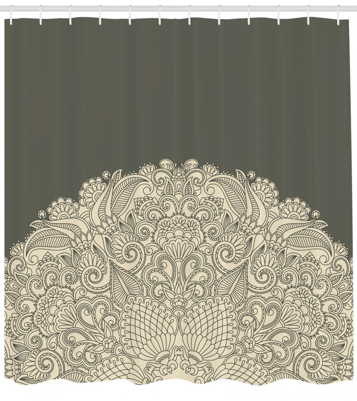 oriental shower curtain floral half mandala print for bathroom shower curtains home garden
