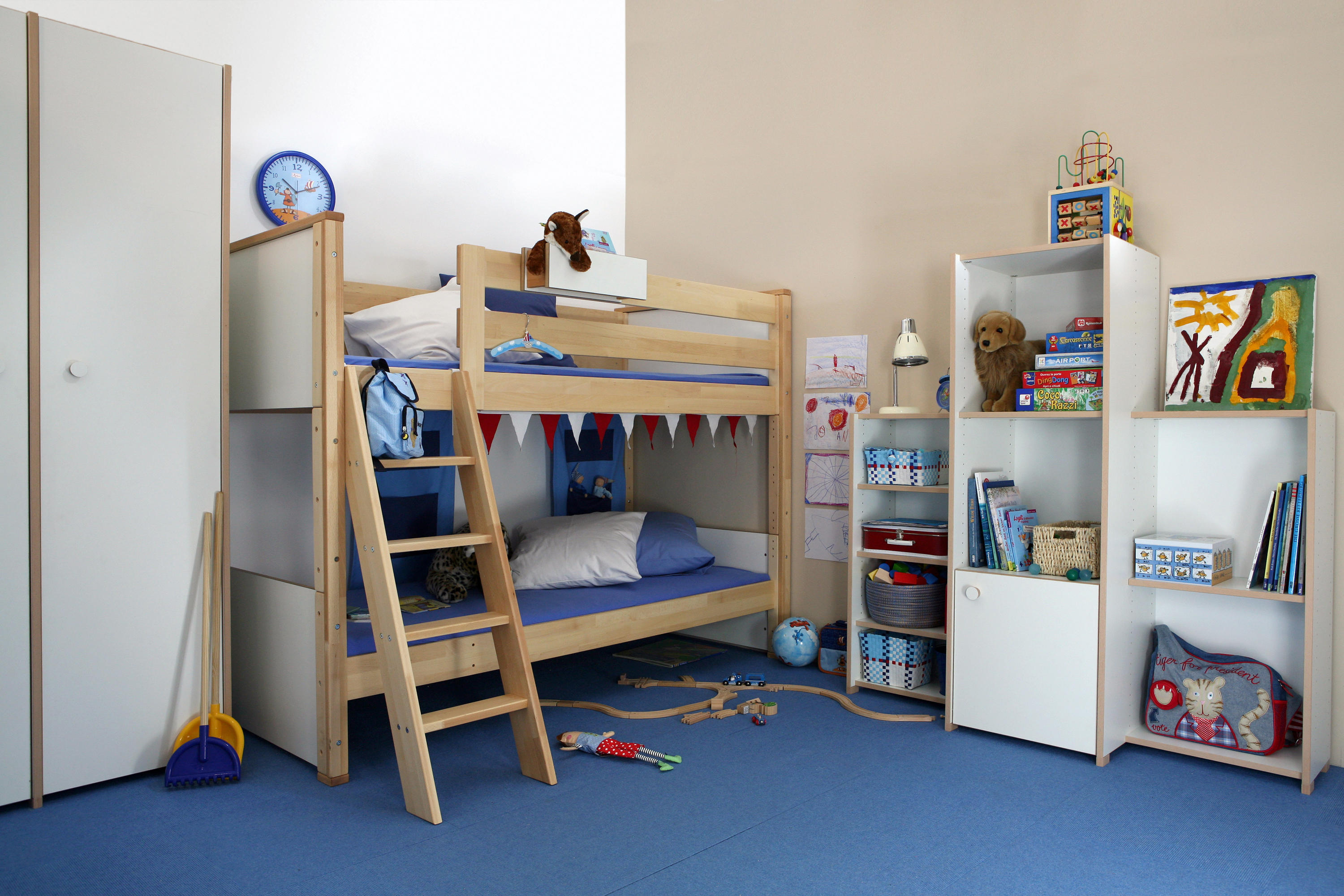 medium loft bed with shelves architonic