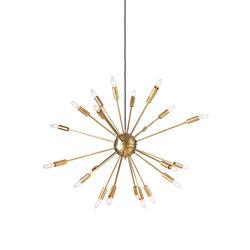 Satellite Chandelier In Brass General Lighting Design Within Reach