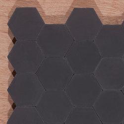 hexagon aqua concrete tiles from