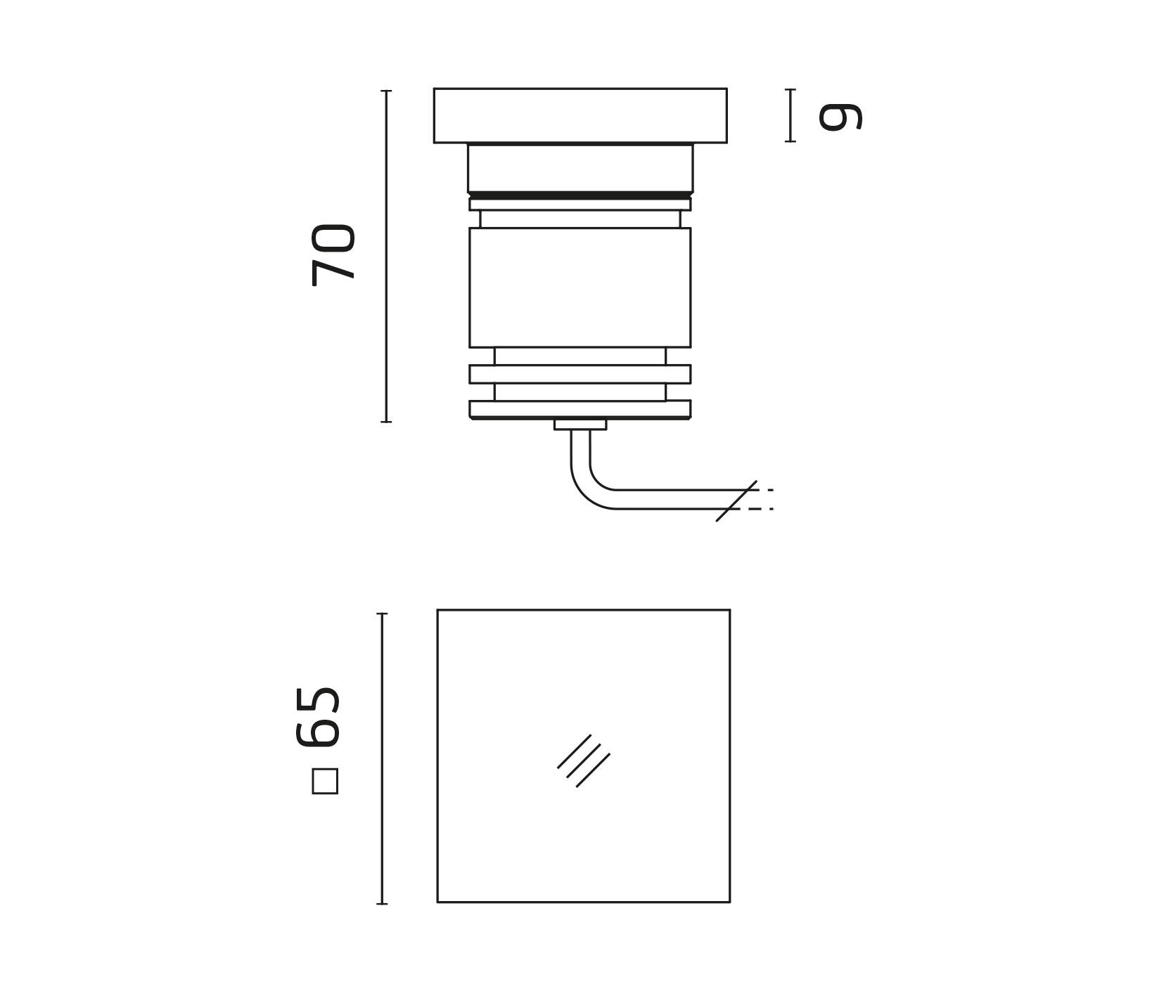 Sigma Power Led Square Methacrylate Diffuser
