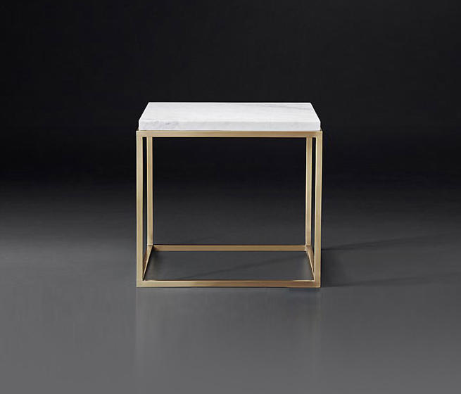 nicholas marble square side table
