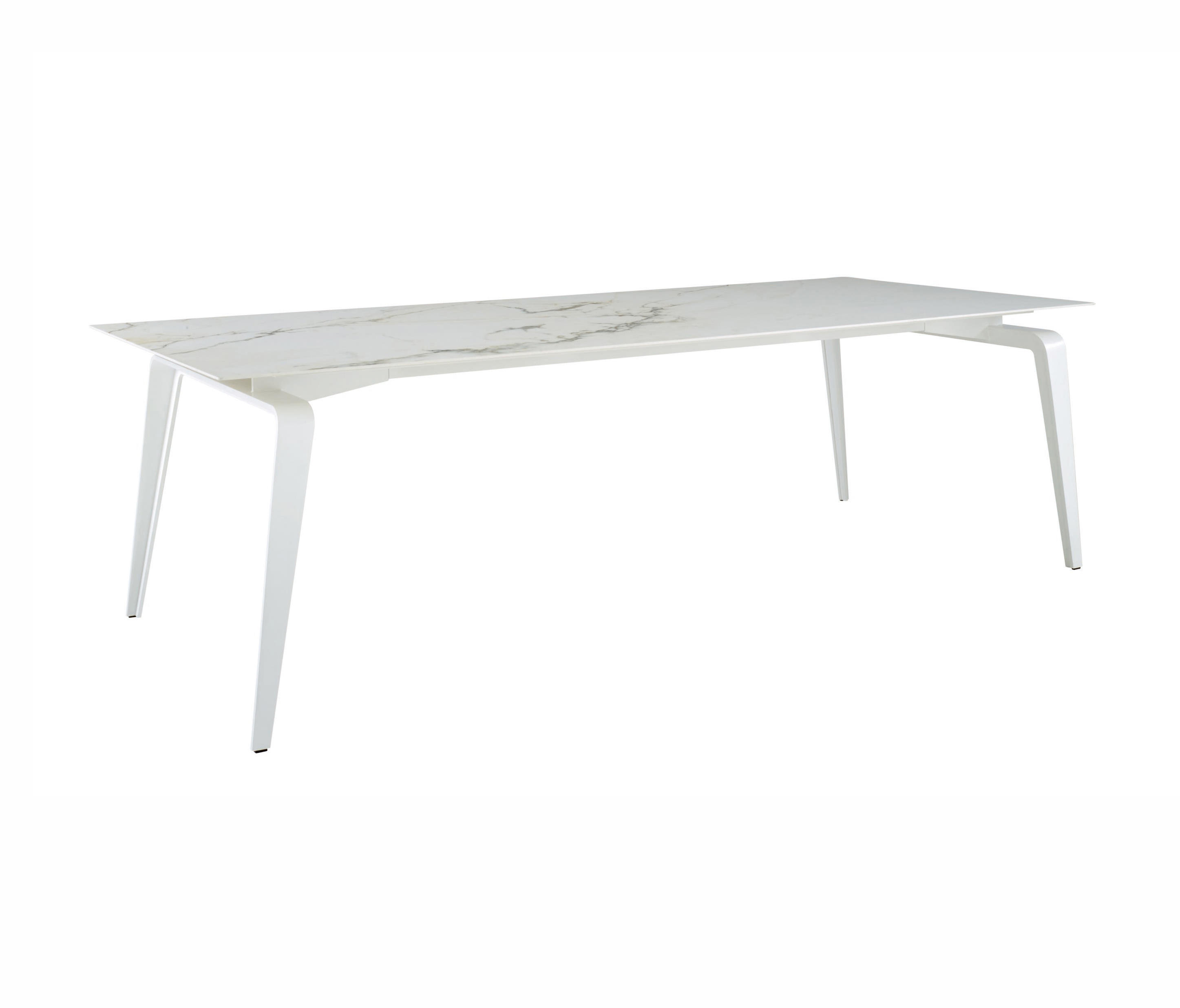 odessa rectangular dining table white lacquered base by ligne roset dining tables