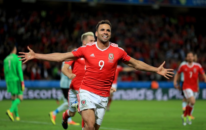 Hal Robson-Kanu scored a memorable goal in the victory for the Wales Belgium (Mike Egerton / PA).