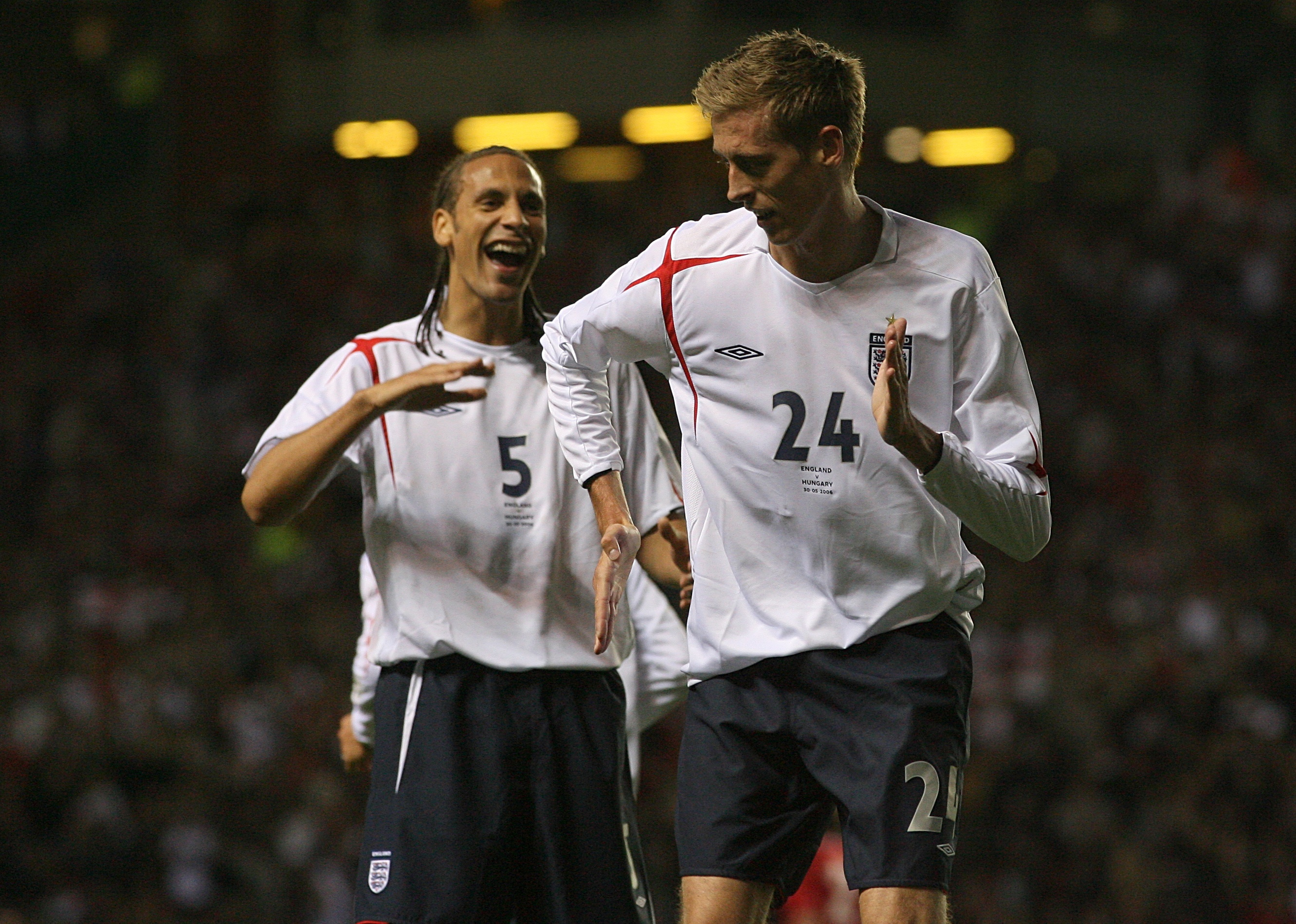 Crouch celebrates against Hungary