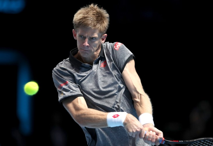 Kevin Anderson dropped just one game in his crushing win over Kei Nishikori (Adam Davy/PA).
