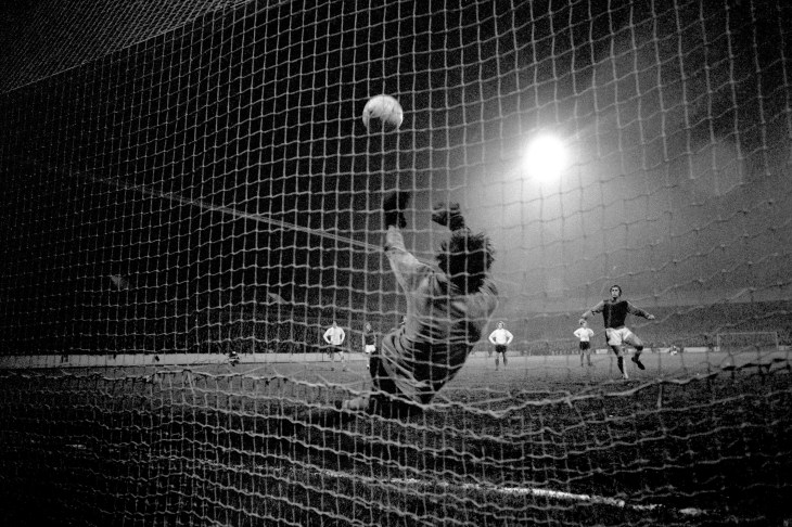 Banks saved from the penalty spot to deny England team-mate Geoff Hurst in new club Stoke's run to winning the League Cup in 1973