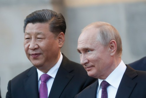 Xi Jinping and Vladimir Putin in Moscow