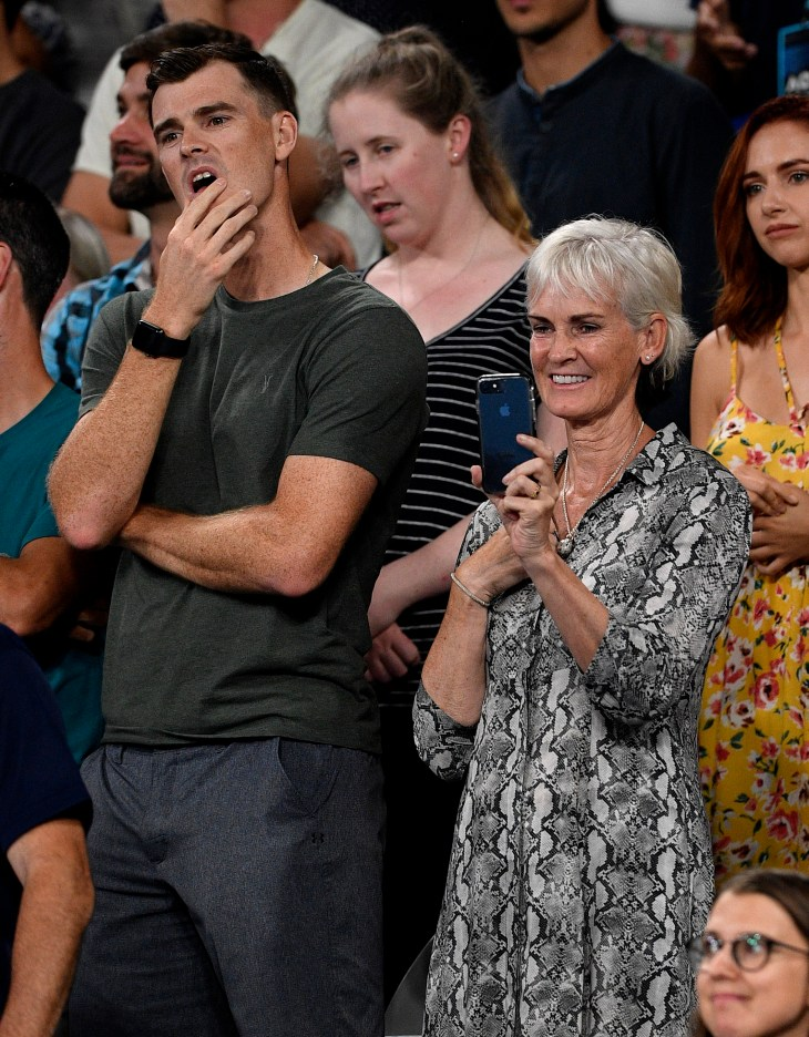 Jamie and Judy Murray watched Andy's match against Roberto Bautista Agut