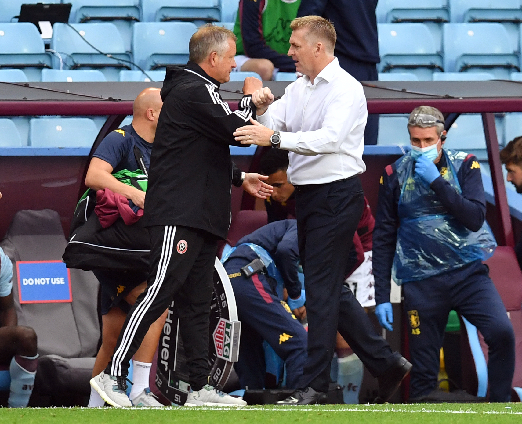 Sheffield United manager Chris Wilder and Aston Villa boss Dean Smith had to share the spoils