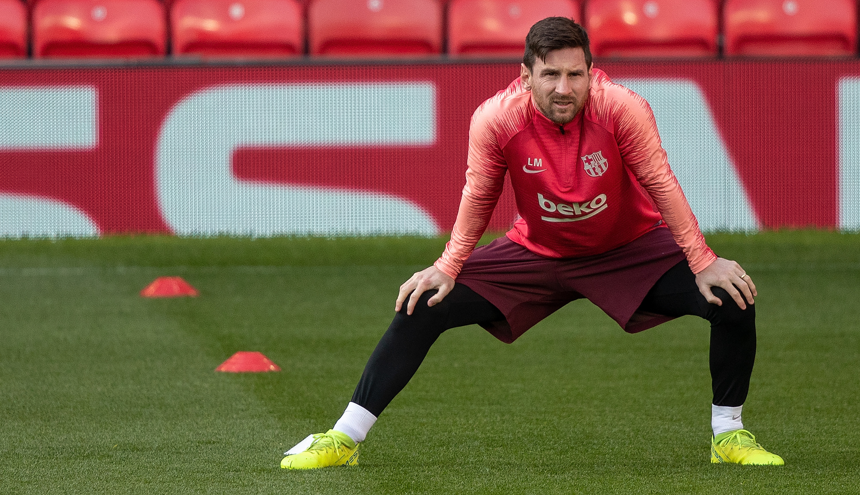 Barcelona were without Lionel Messi in Bilbao