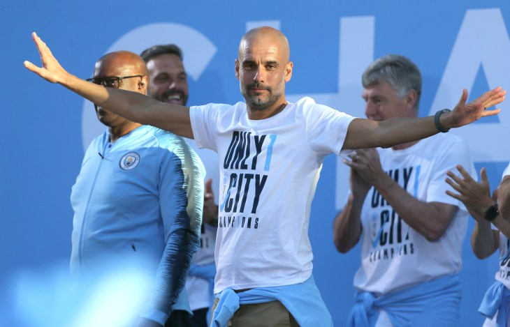 Pep Guardiola has spoken of his love for the city of Manchester and Manchester City (Richard Sellers/PA).