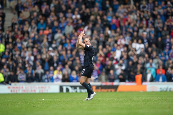 Kenny Miller trudged off to a warm ovation