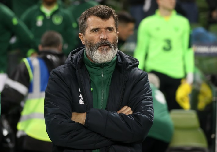Roy Keane, pictured, has questioned Frank Lampard's progress at Chelsea