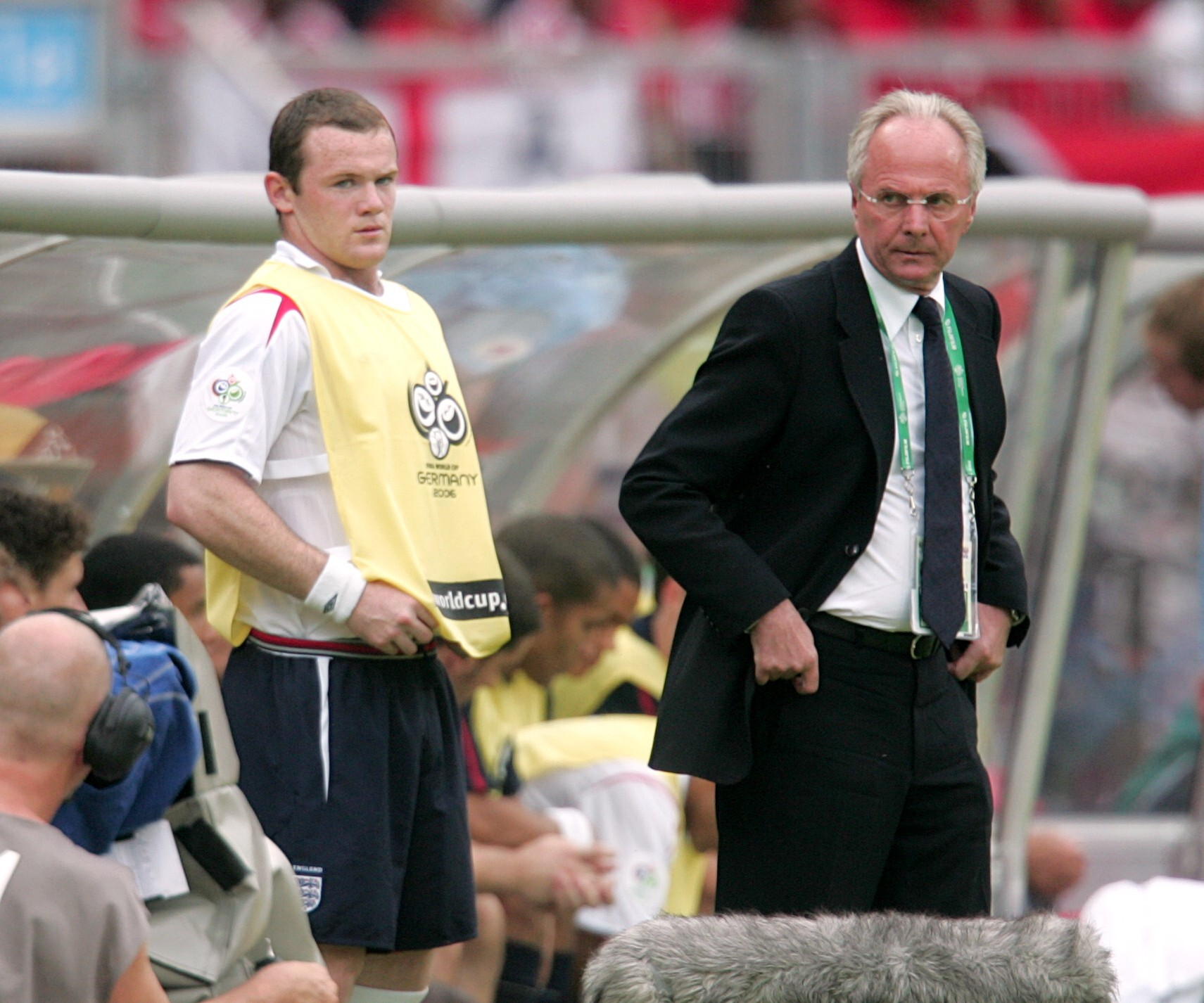 Wayne Rooney came on for Michael Owen