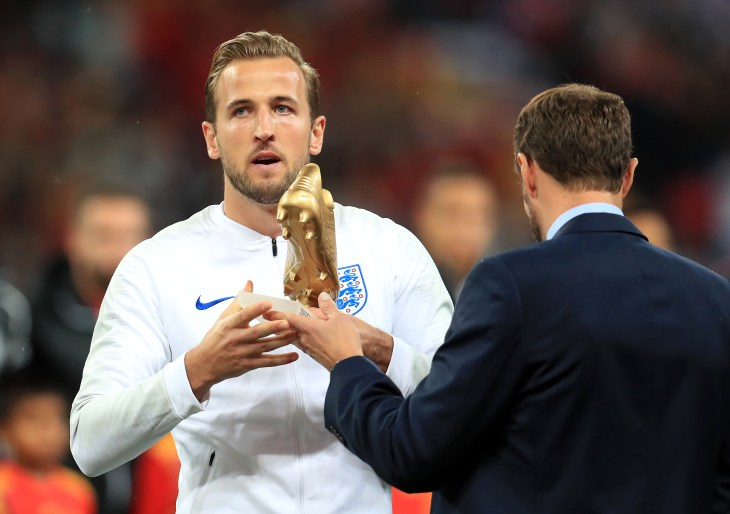 Harry Kane won the Golden Boot at the World Cup (Mike Egerton/PA).