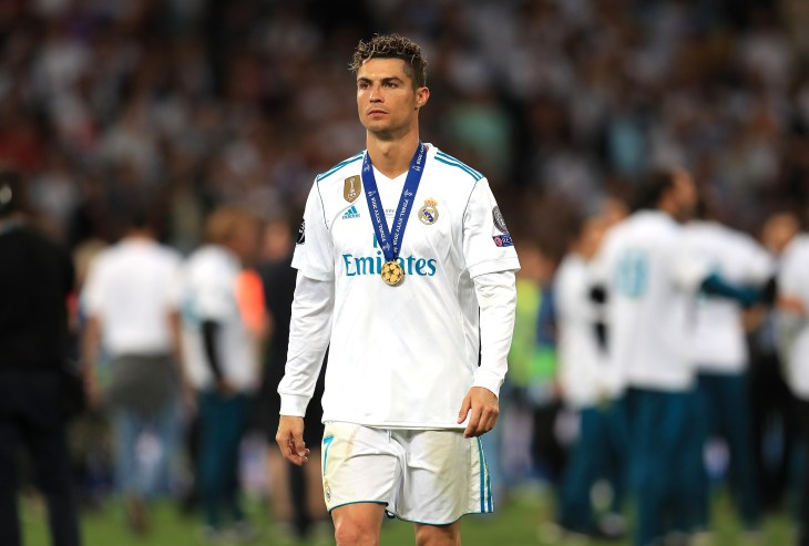 Ronaldo left Real after helping them win a third consecutive Champions League title (Mike Egerton/PA).