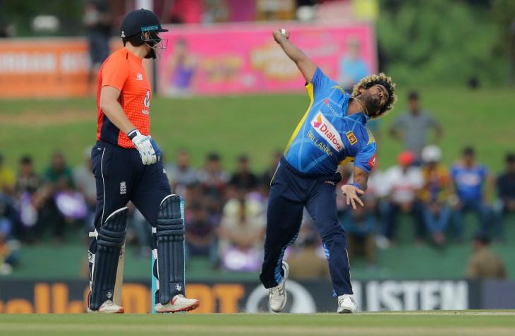 England took the attack to the returning Lasith Malinga (Eranga Jayawardena/AP).