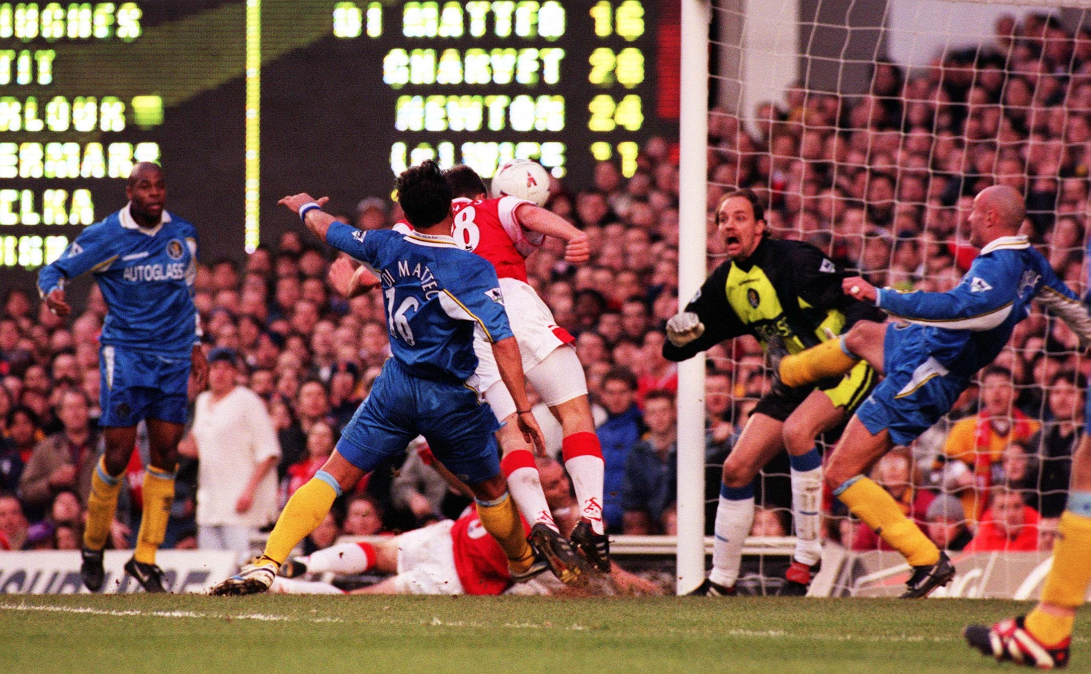 Stephen Hughes was the unlikely two-goal hero as Arsenal beat Chelsea 2-0 at Highbury en route to the Premier League title in 1998.