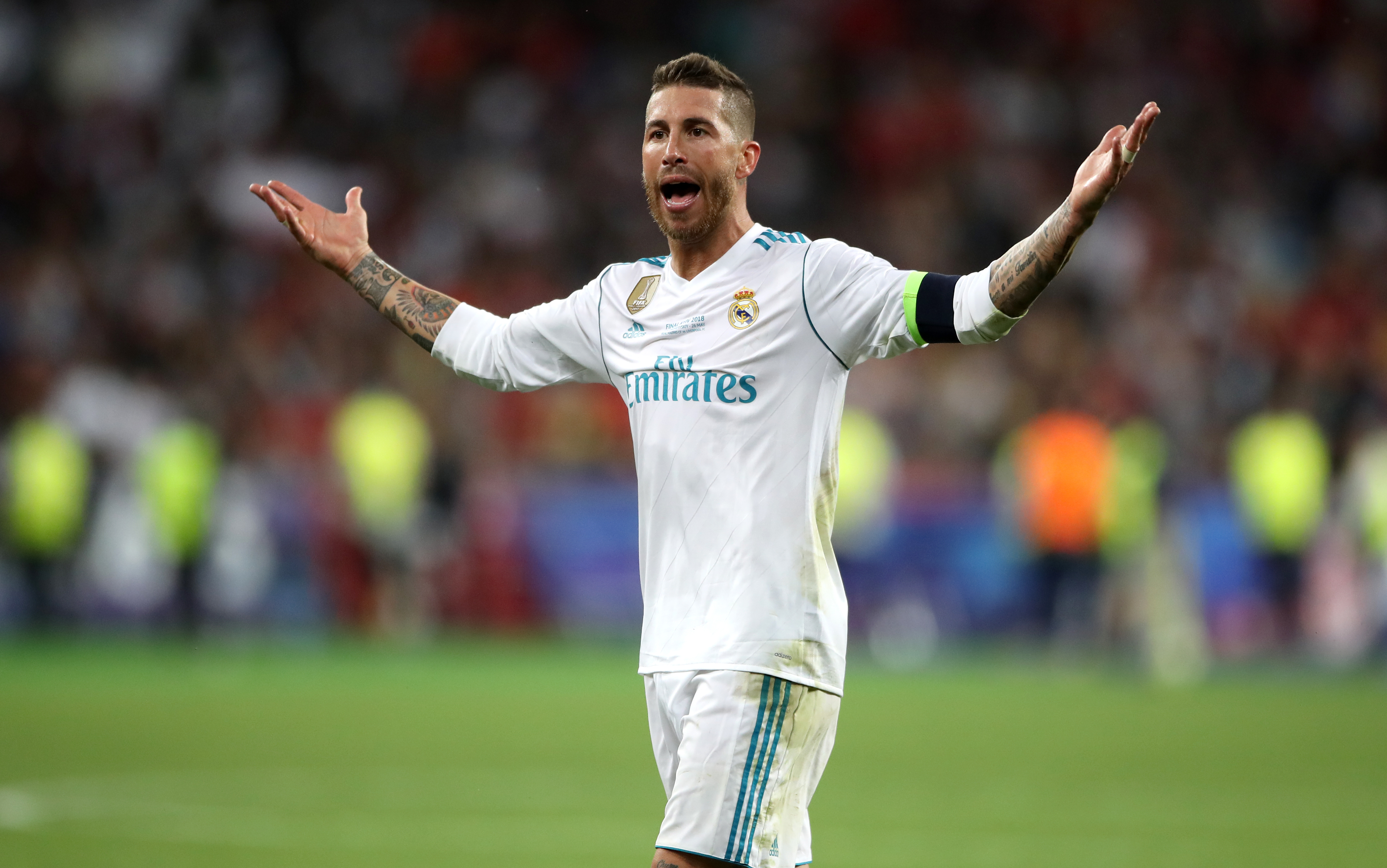 Real Madrid captain Sergio Ramos is suspended