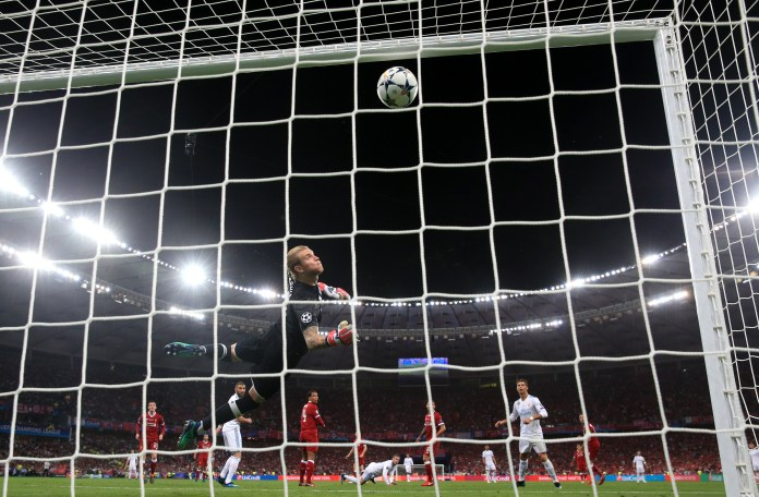 Karius let Gareth Bale's shot slip through his grasp