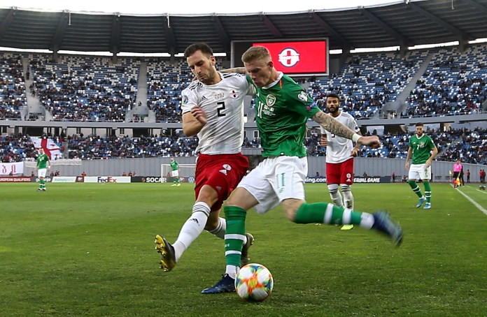 James McClean could not help the Republic to victory in Tbilisi